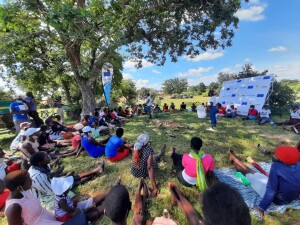 A Nhanga session with adolescent girls and young women on Youth day